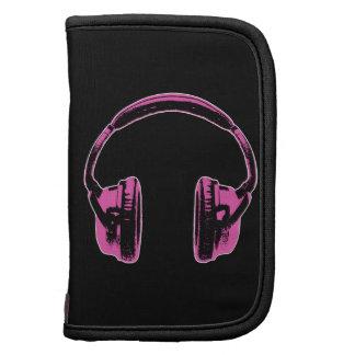 Pink Graphic Headphones Planners