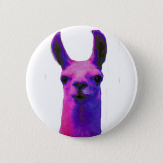 Pink Graphic Llama Button