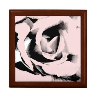 Pink Graphic Rose Keepsake Box