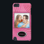 "Pink Graphic with Initials and Your Photo iPod Touch (5th Generation) Cover<br><div class=""desc"">A chic retro design with initials  and your photo on pink graphic background. The wonderful gift idea for her on any occasion. Customize it!</div>"