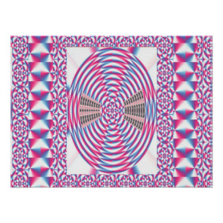 PINK Graphics : Elegant Oval Chakra Border Print