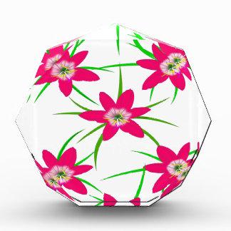 Pink Grass Flower Acrylic Award