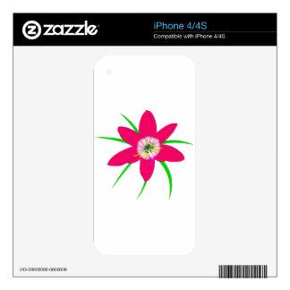 Pink Grass Flower iPhone 4S Decals