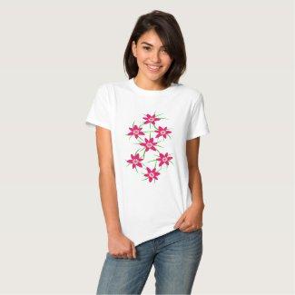 Pink Grass Flower Tee Shirt