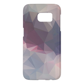 Pink Gray Abstract Pyramid Pattern Art Samsung Galaxy S7 Case
