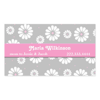 Pink, Gray, and White Daisy Mommy Card