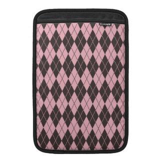 Pink & Gray Argyle MacBook Air Sleeves