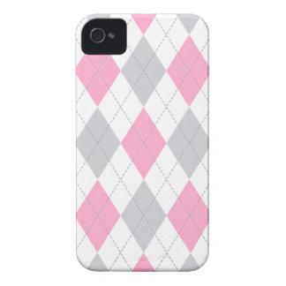 Pink Gray Argyle Pattern Blackberry Case