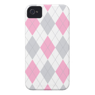Pink Gray Argyle Pattern iPhone 4 Cover