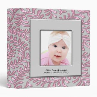 Pink Gray Baby Girl Photo Binders