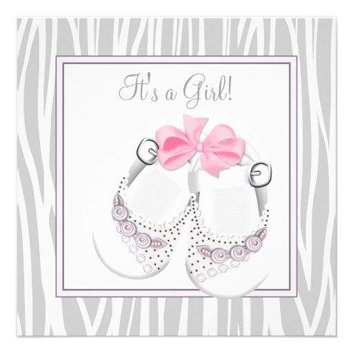 pink gray baby shoes pink gray baby girl shower square
