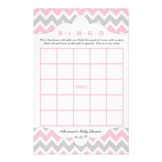 Pink Gray Bingo purse girl baby shower games Flyer