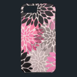 "Pink gray black abstract floral pattern modern iPhone 8/7 case<br><div class=""desc"">A modern pink,  black and grey  trendy floral pattern with pastel and watercolor abstract and modern flowers vector. Perfect for the modern girl and pretty flowers lover</div>"