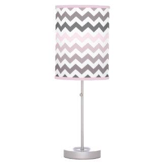 Pink & Gray Chevron Desk Lamp