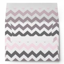 Pink & Gray Chevron Envelope