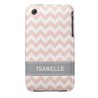 Pink Gray Chevron iPhone 3g 3gs Case Mate Cover Case-Mate iPhone 3 Case