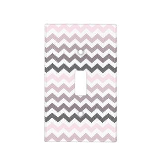 Pink & Gray Chevron Light Switch Covers