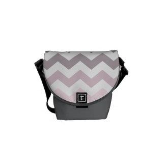 Pink & Gray Chevron Courier Bags