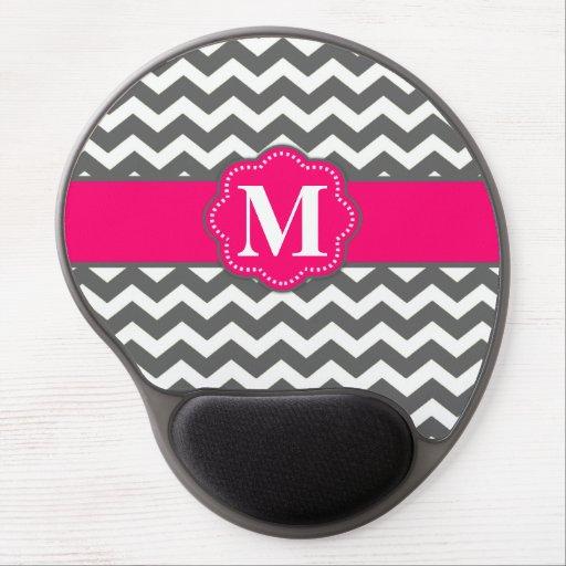 mouse pad alas mouse pink chevron pink gray chevron monogram mousepad gel mouse .