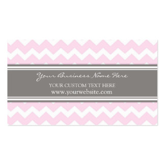 Pink Gray Chevron Retro Business Cards