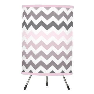 Pink & Gray Chevron Tripod Lamp