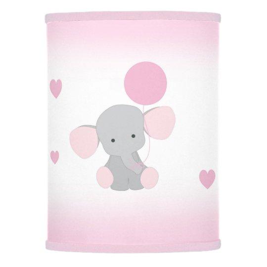 Pink Gray Elephant Nursery Baby Safari Animal Lamp Shade