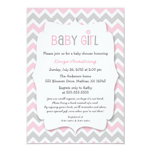 Baby girl shower invitations zazzle pink gray girl baby shower invites bring a book filmwisefo Images