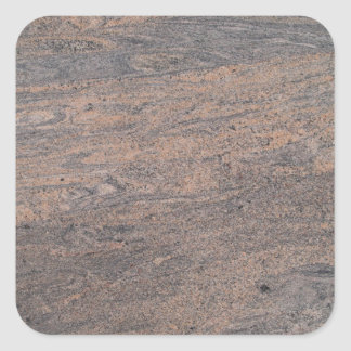 Pink & Gray Marble Square Sticker