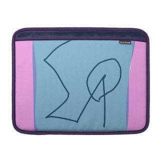 Pink Gray Marker MacBook Air Sleeves