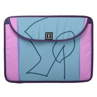 Pink Gray Marker MacBook Pro Sleeves