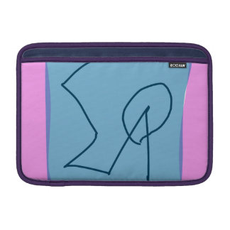 Pink Gray Marker Sleeve For MacBook Air