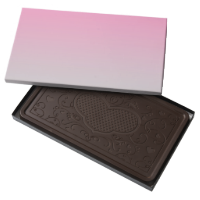 Pink & Gray Ombre 2 Pound Dark Chocolate Bar Box