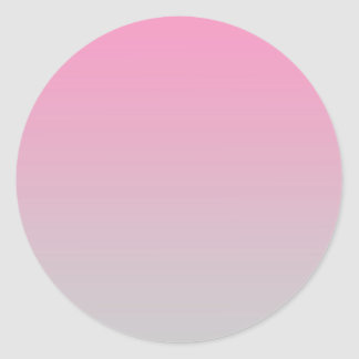Pink & Gray Ombre Classic Round Sticker