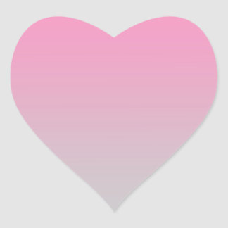 Pink & Gray Ombre Heart Sticker