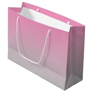 Pink & Gray Ombre Large Gift Bag