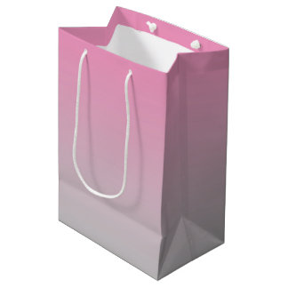 Pink & Gray Ombre Medium Gift Bag
