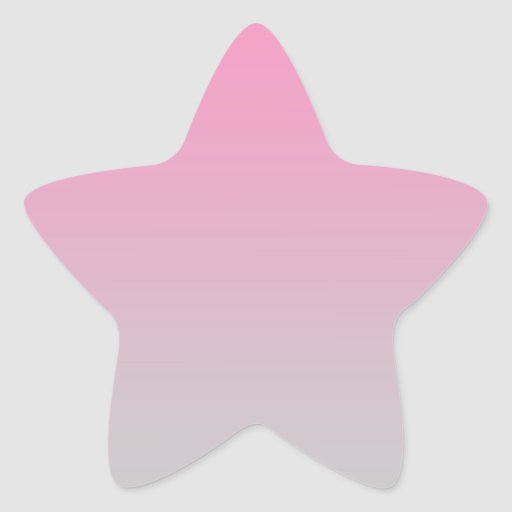 Pink gray ombre star sticker zazzle