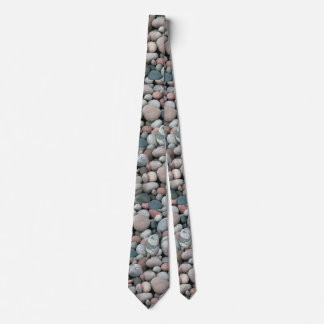 Pink Gray Pebbles Pattern Tie