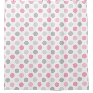 Pink And Gray Shower Curtains