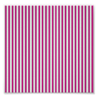 Pink Gray Stripes Posters