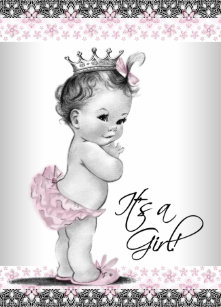 Vintage princess baby shower invitations zazzle pink gray vintage princess baby shower invitations filmwisefo