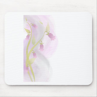 Pink & Gray watercolor wash Mouse Pad
