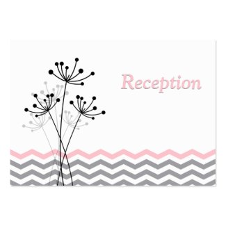 Pink Gray White Floral Reception Enclosure Card