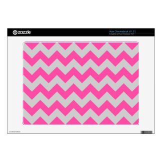 Pink Gray Zigzag Chevron Pattern Girly Decal For Acer Chromebook