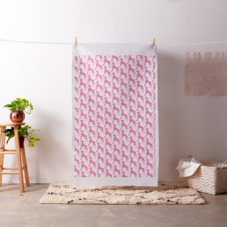 Pink Great Dane Fabric