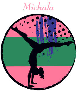 610b967f6e Pink Green Abstract Art Gymnast Personalized Duffle Bag