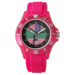 Pink Green Abstract Art Gymnast Watches