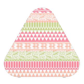 Pink Green Abstract Aztec Tribal Print Pattern Bluetooth Speaker