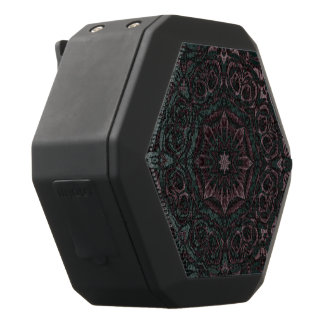 Pink Green Abstract Black Bluetooth Speaker