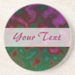 pink green abstract coasters